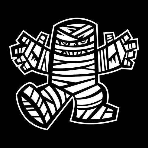 spooky mummy tecken vektor