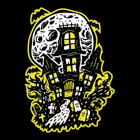 Halloween Spukhaus vektor