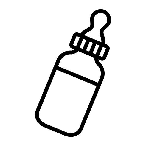 Babyflaska Mjölkvektorns ikon vektor