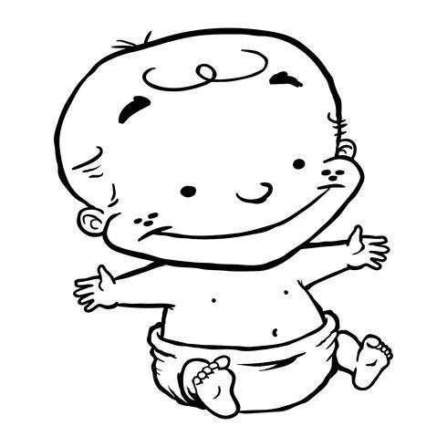Baby barn Kid tecknad vektor