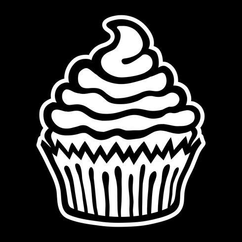 Cupcake vektorikonen vektor
