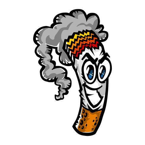 Cigarettrökning vektor illustration