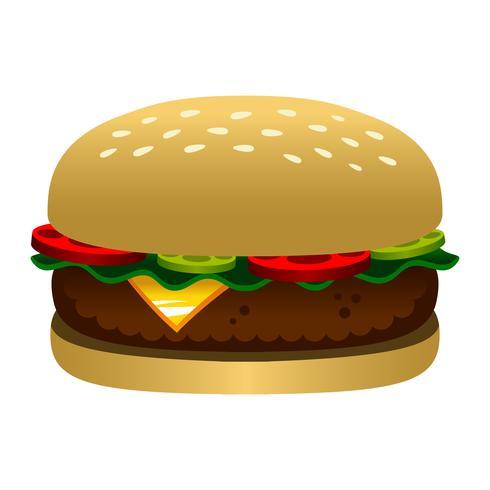 Burger-Cartoon-Vektor-Illustration vektor