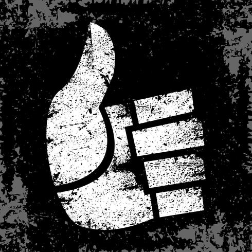 Die Karikatur-Hand, die positive Daumen herstellt, up Geste vektor
