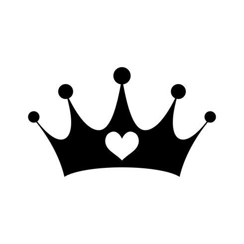 Rosa Girly Prinzessin Royalty Crown mit Herz-Juwelen vektor
