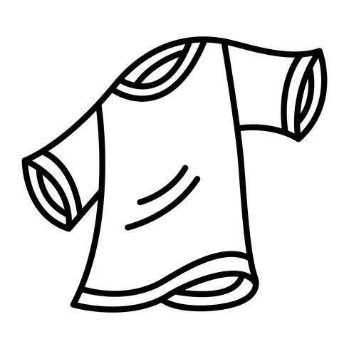 T-Shirt-Schablonen-Vektor vektor