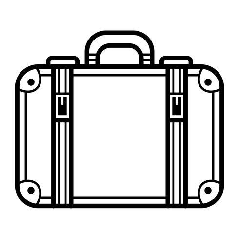 Resväska vektor ikon