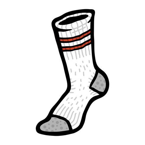 Strumpor Kläder för fötter vektor