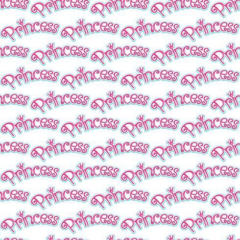 Rosa Girly Princess Logo Text Grafisk Med Krona vektor