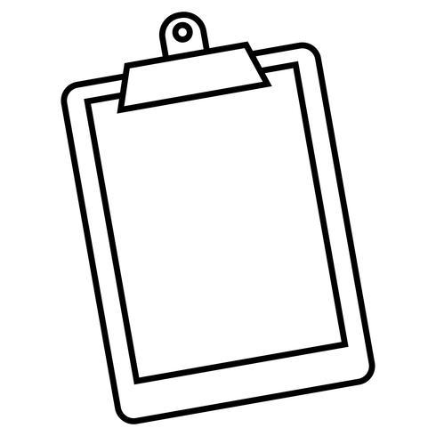 Zwischenablage Vektor Icon