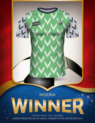 Fotbollskup 2018, Nigeria vinnare koncept. vektor
