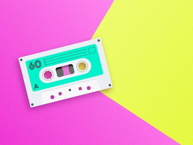Old School Music Pop Bakgrund vektor