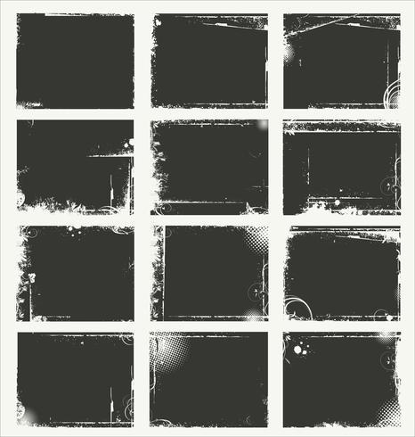 Leere graue grunge Fahnensammlung vektor