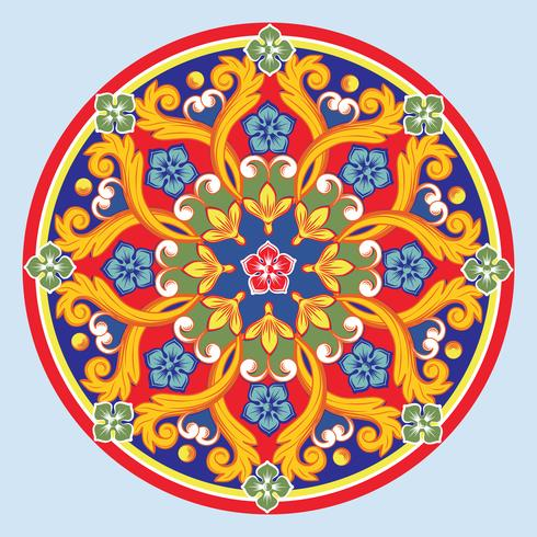 Bunte ethnische runde dekorative Mandala. Vektor-illustration vektor