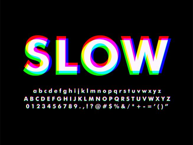 rgb spektrum-effekt alfabetet vektor