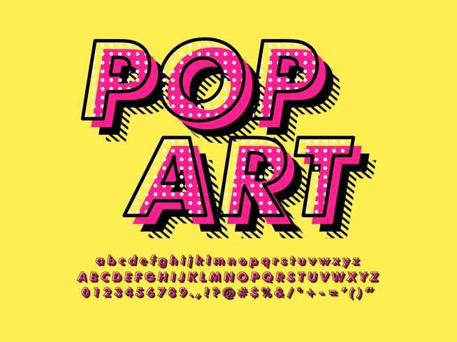 modern pop art font effekt vektor