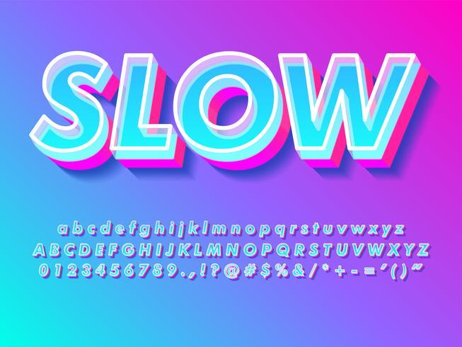 Einfacher heller moderner Texteffekt vektor