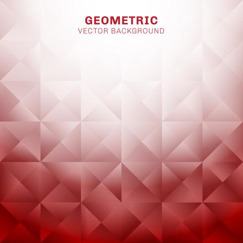 Abstrakta geometriska trianglar mönster röd bakgrund med plats för text vektor
