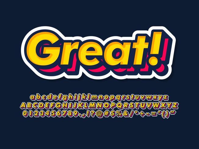 Einfache Typografie-Schriftart vektor