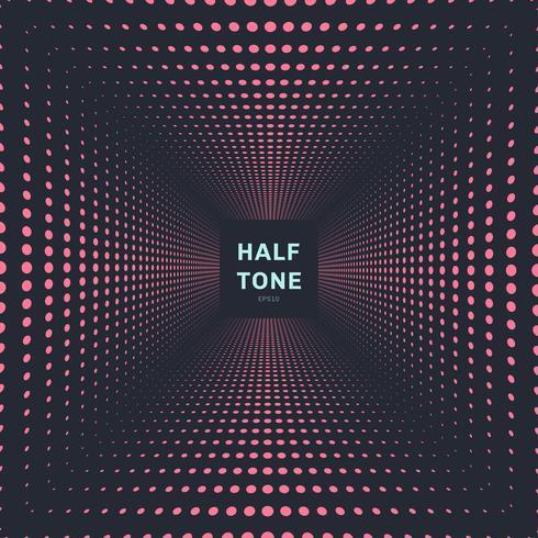 Abstrakt rosa färg halvtons rumperspektiv mörk bakgrund och konsistens vektor