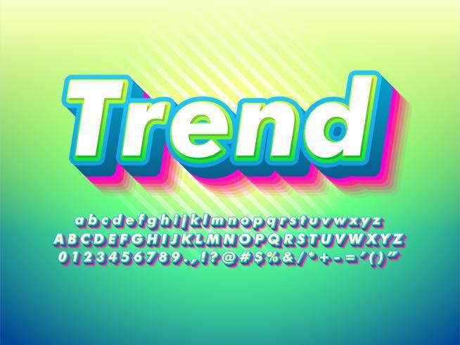 Modern Green Trendy Och Friendly Typeface vektor