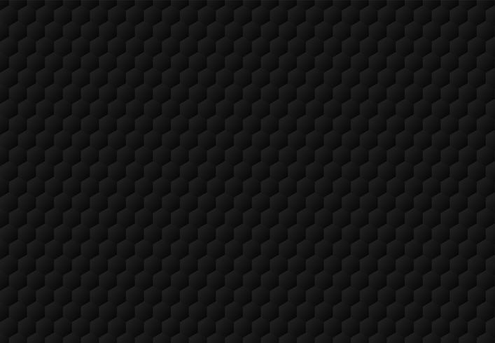 Abstrakt svart hexagon präglat mönster mörk bakgrund och textur. Lyxig stil. vektor