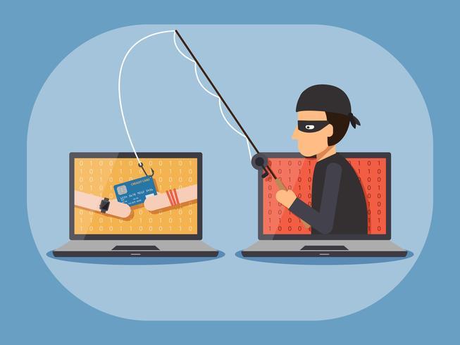 Cybersicherheits- und Verbrechenskonzept. vektor