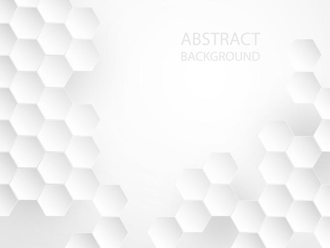 Abstrakt vit geometrisk bakgrund. vektor