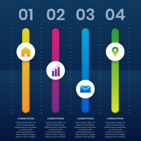 3D Equalizer Infografik Vorlage Business-Präsentationen vektor