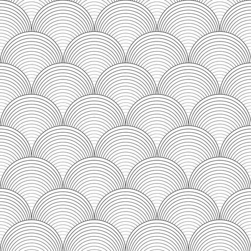 Svartvitt sömlöst mönster. vektor