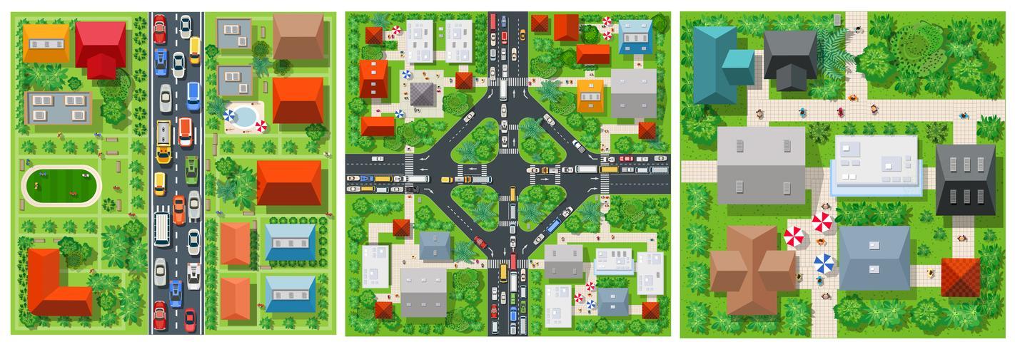 Draufsicht Transport der Straße vektor