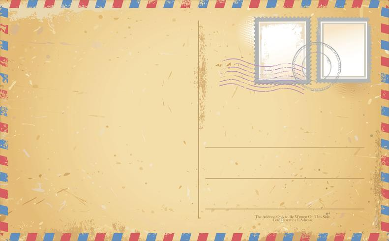 Retro- Weinlesedesign des Postkartenvektors vektor