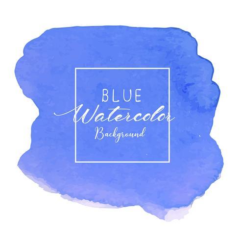 Blauer abstrakter Aquarellhintergrund. Aquarellelement für Karte. Vektor-illustration vektor