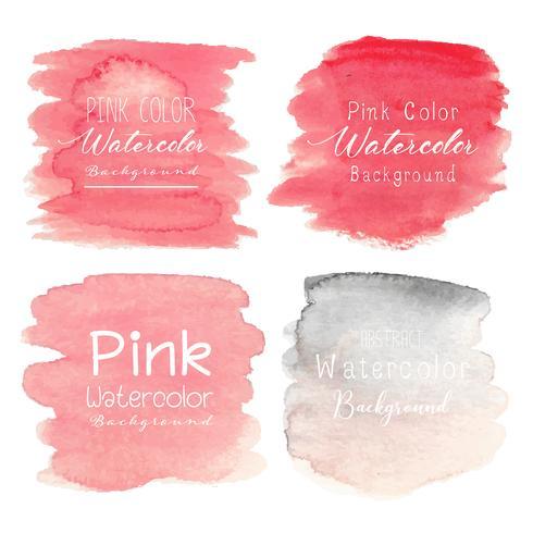 Rosa abstrakter Aquarellhintergrund. Vektor-illustration vektor