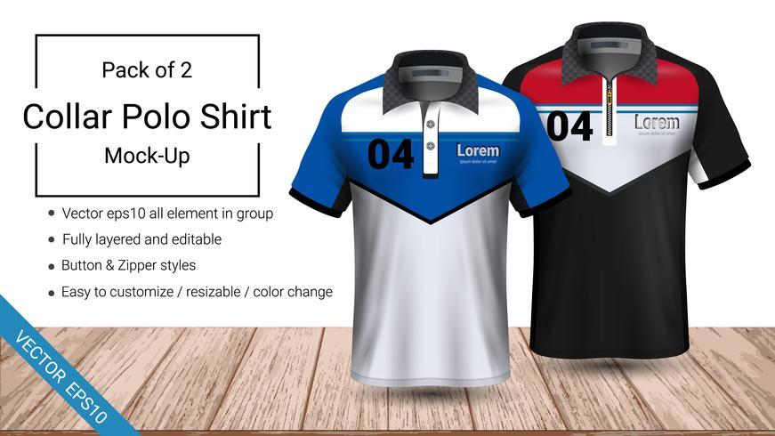 T-shirt mall för poloskjorta. vektor