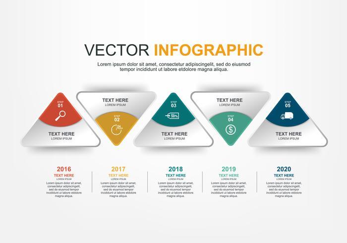 Infografik-Elemente-Design mit 5 Optionen vektor
