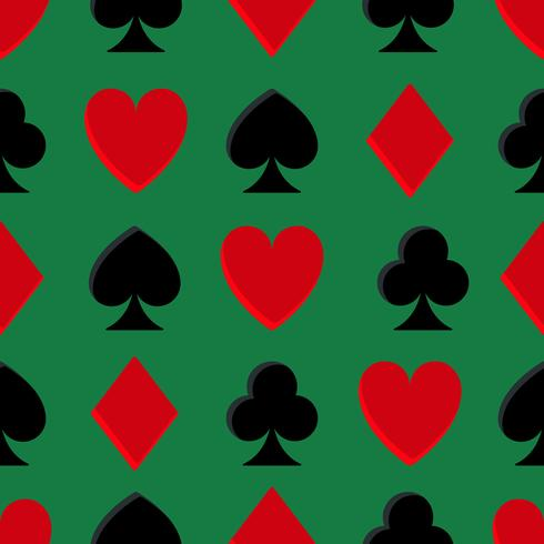 Casino poker sömlöst mönster vektor