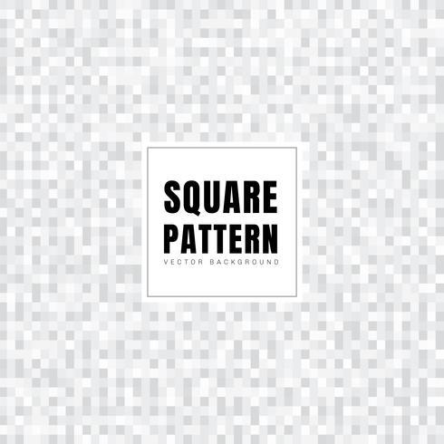 Abstrakte weiße und graue Quadratmuster-Hintergrundbeschaffenheit. Geometrischen Stil. Mosaikgitter. vektor