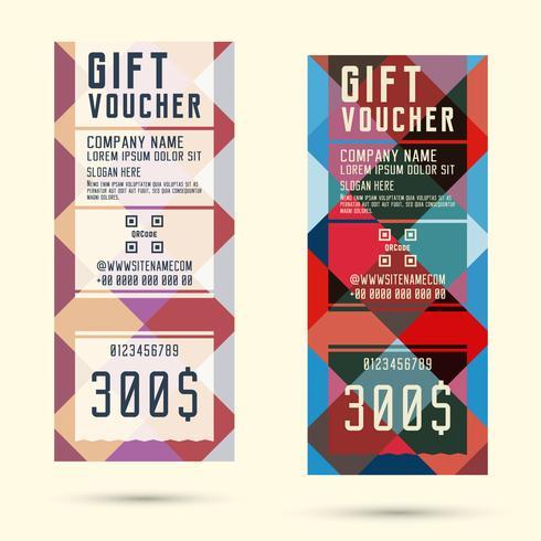 Geschenkgutschein Vorlage vektor