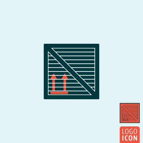 Lastlåda ikonen isolerad vektor