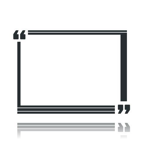 Citationstecken Square Speech Box vektor