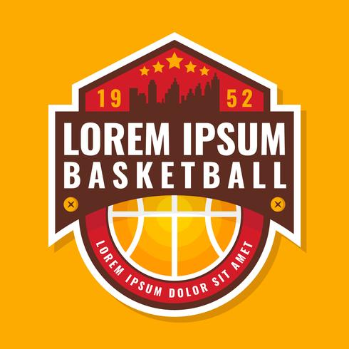 Premium-Qualität-Basketball-Abzeichen vektor