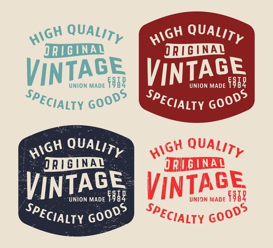 Denim Vintage Briefmarke vektor