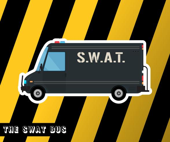Swat polisbuss vektor