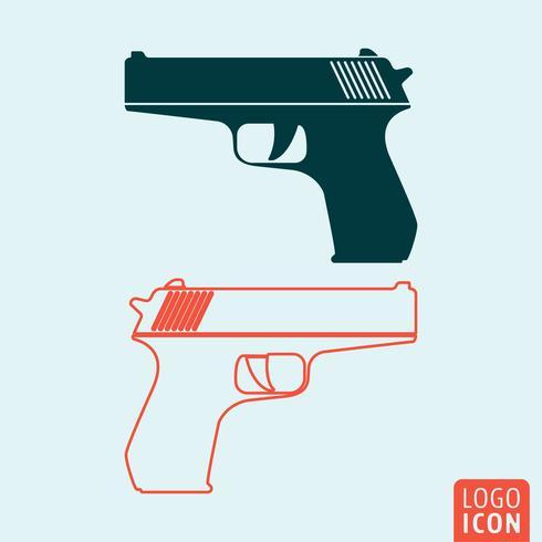Waffe-Symbol isoliert vektor