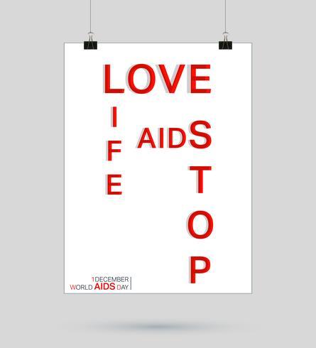 AIDS-bandaffisch vektor