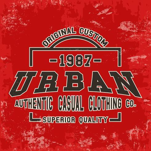 Urban vintage stämpel vektor