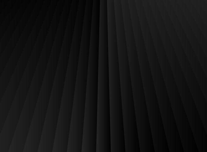 Abstrakt rand geometrisk perspektiv vertikala linjer svart och grå färgfärg bakgrund. vektor