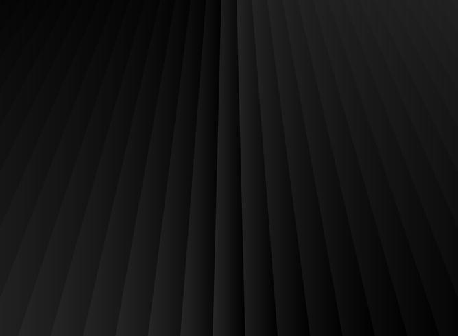 Vertikale Linien der geometrischen Perspektive des abstrakten Streifens schwarzer und grauer Steigungsfarbhintergrund. vektor