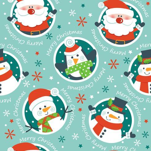 Weihnachten nahtlose Muster, vektor